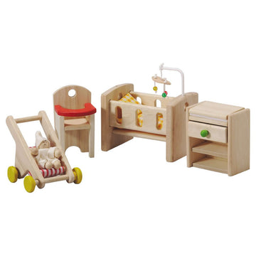 Plan Toys Dollhouse Nursery Set | Wooden Toys | Oompa