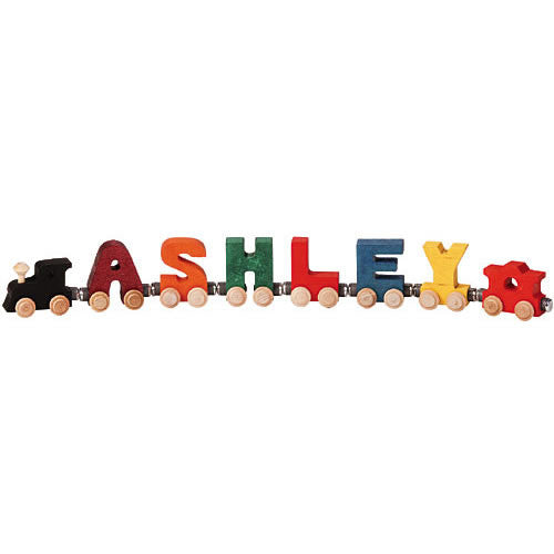 Bright Wooden Letters Name Train