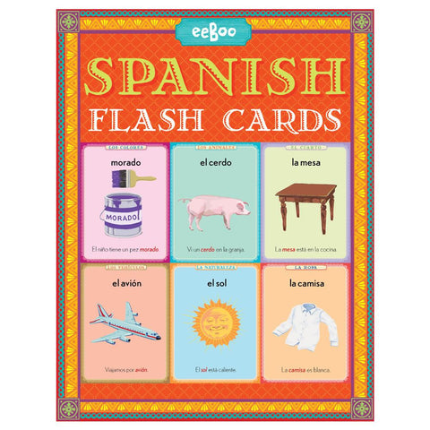 eeBoo Spanish Language Flash Cards