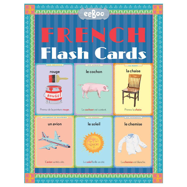 eeBoo French Language Flash Cards