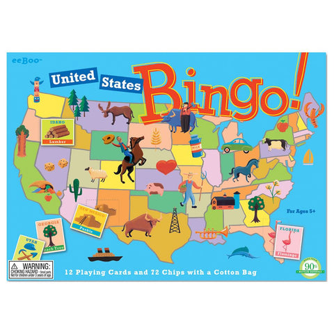 eeBoo United States Bingo Game