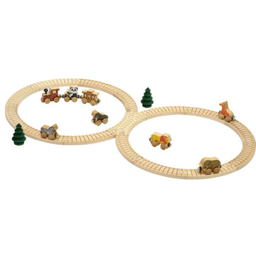 Safari Wooden Toy Train Set | Oompa Toys