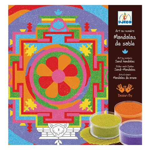 Djeco Tibetan Mandalas Colored Sand Art Kit