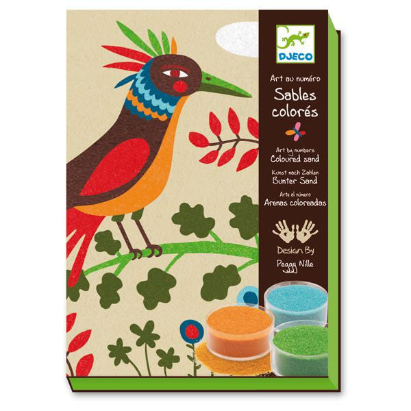 Djeco Birds of Paradise Colored Sand Art Kit