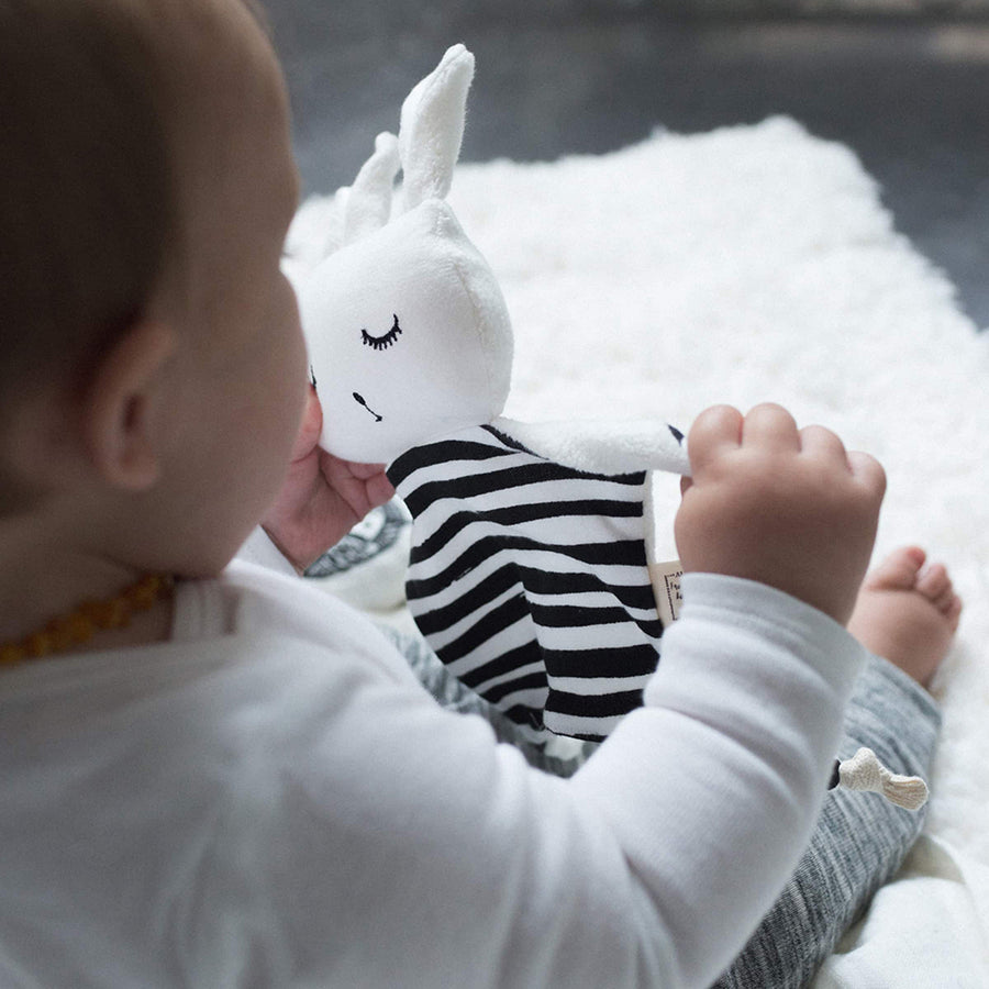 Wee Gallery - Stripes Organic Cuddle Bunny | Oompa Toys - Lifestyle