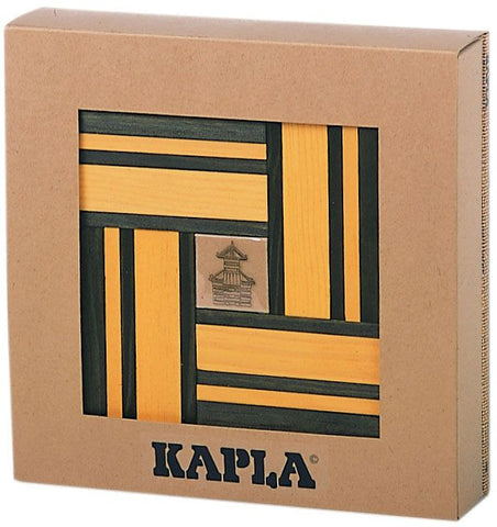 Kapla Kapla Block Set - 42 Piece Green & Yellow