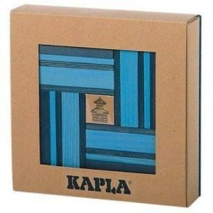 Kapla Kapla Block Set - 42 Piece Light Blue & Dark Blue