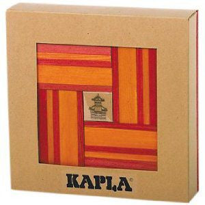 Kapla Kapla Block Set - 42 Piece Red & Orange
