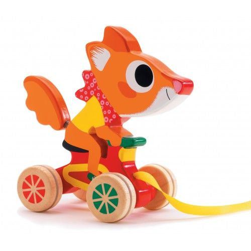 Djeco Sonic Squirrel Pull Toy