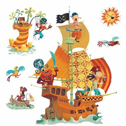 Djeco Pirates Ship Wall Stickers
