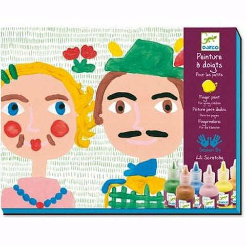 Djeco Finger Painting Craft Kit