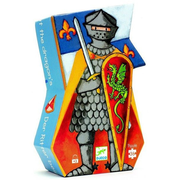 Djeco Knight And Dragon Puzzle (36 Pieces)