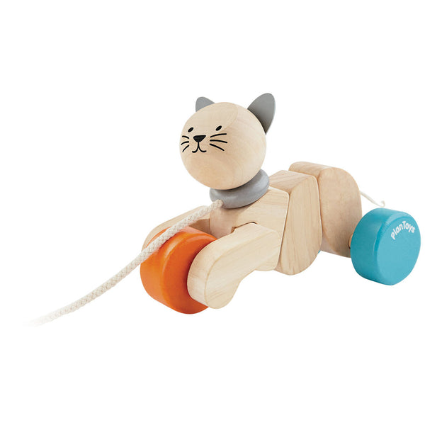 Plan Toys Pull Along cat wooden toy