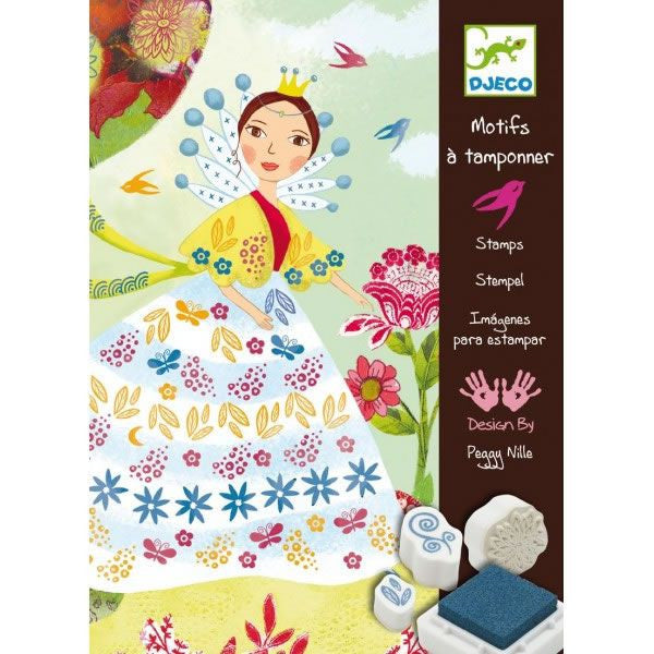 Djeco Flower Maidens Stamp Set