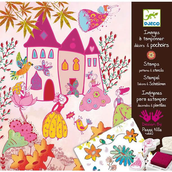 Djeco Princesses Stamps & Stencils Kit