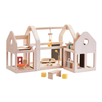 Slide N Go Dollhouse - Plan Toys - Oompa Toys