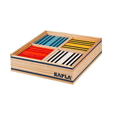 Kapla Octocolor Wooden Blocks - 100 Piece Set | Oompa Toys