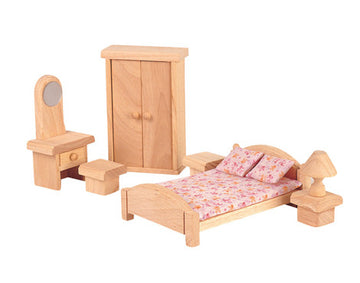 Classic Wooden Dollhouse Furniture - Bedroom