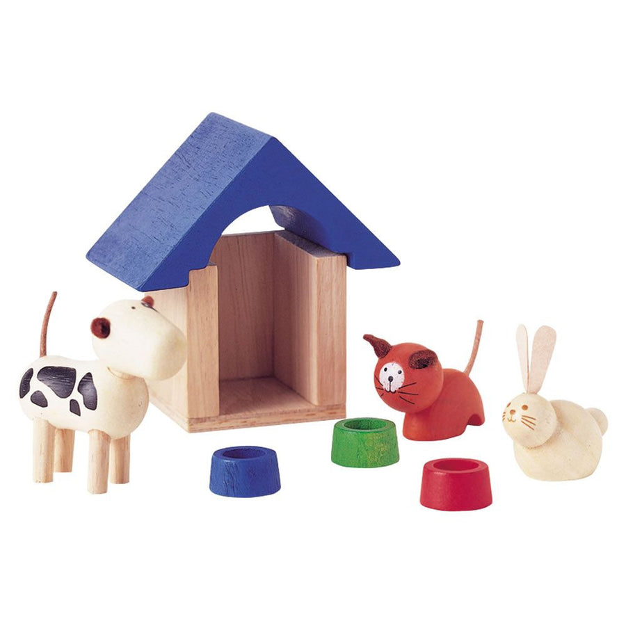 Plan Toys Dollhouse Pets | Wooden Toys | Oompa