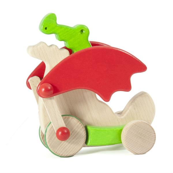 Bajo Dragon Wooden Pull Toy - Bella Luna Toys