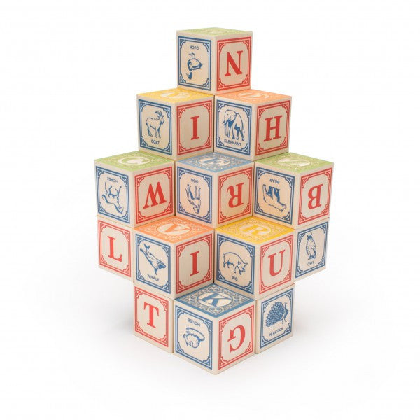 Classic Wooden Alphabet Blocks