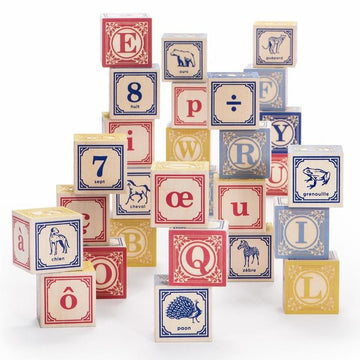 French Alphabet Wooden Blocks