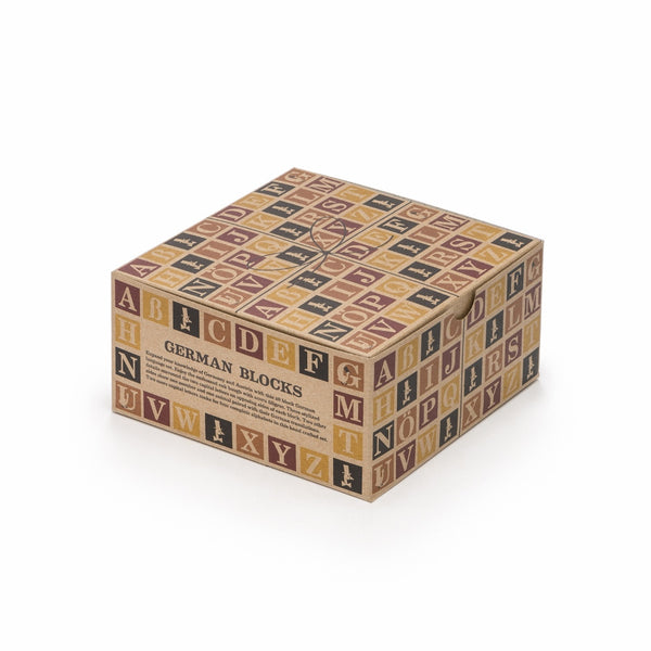 German Wooden Alphabet Blocks