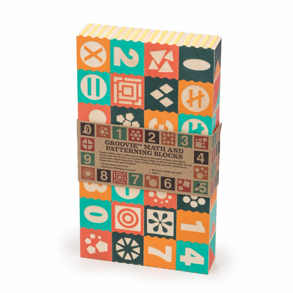 Groovie Number Wooden Blocks