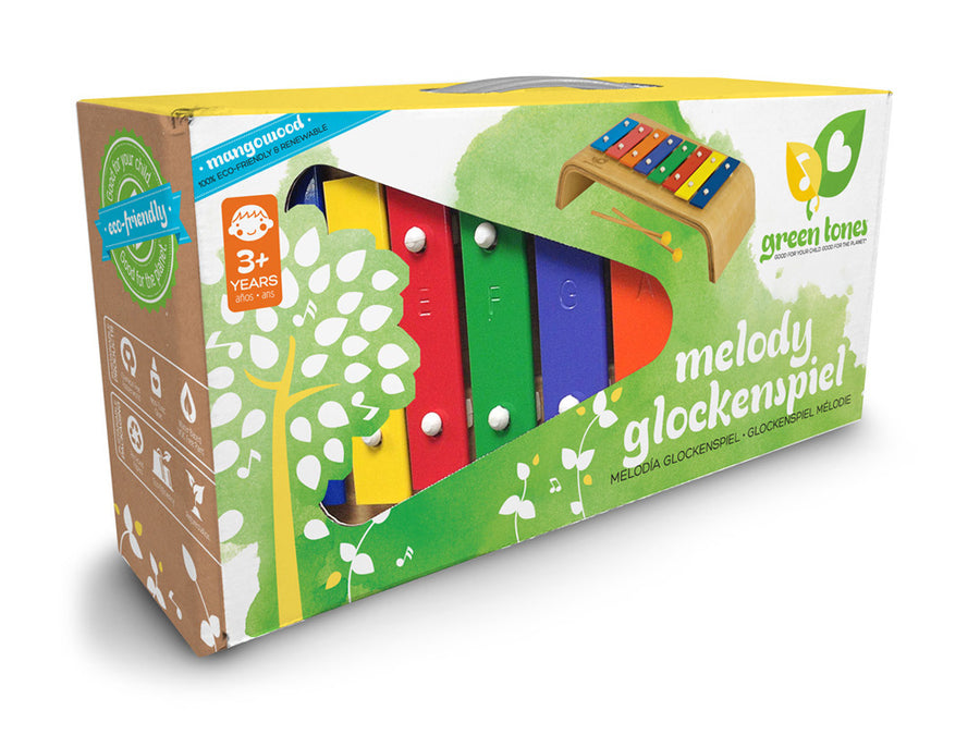Melody Glockenspiel in Box - Green Tones - Oompa Toys