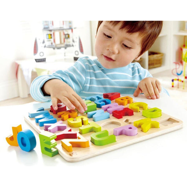 Wooden Alphabet Puzzle - Hape - Oompa Toys