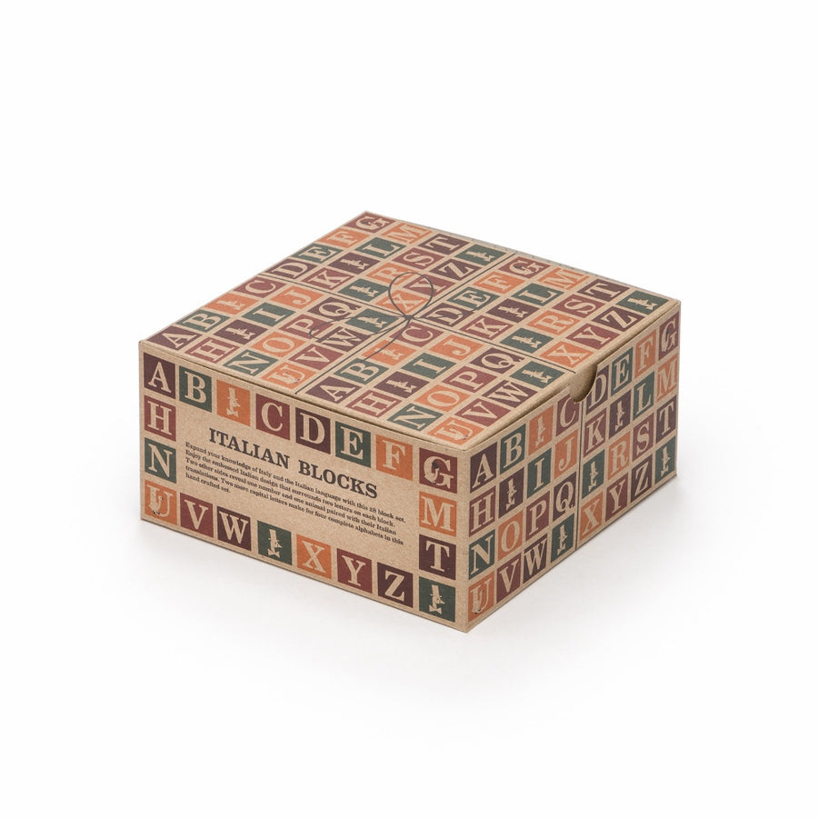 Italian Wooden Alphabet Blocks