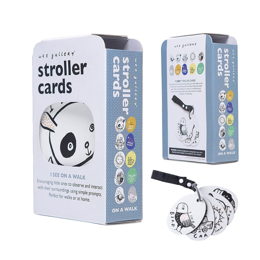 Wee Gallery - I See On A Walk Stroller Cards Package | Oompa Organic Toys