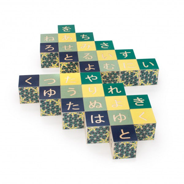 Japanese Character Wooden Blocks