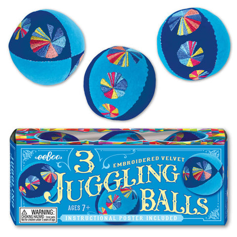 Blue Juggling Balls