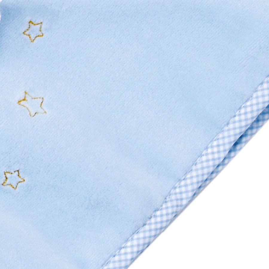 Kathe Kruse Organic Towel Blanket Doll Blue - Embroidered Stars