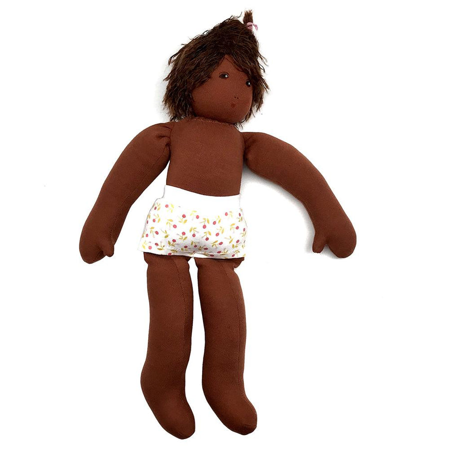 Nanchen Organic Girl Dress-Up Doll - Cocoa | Oompa Toys