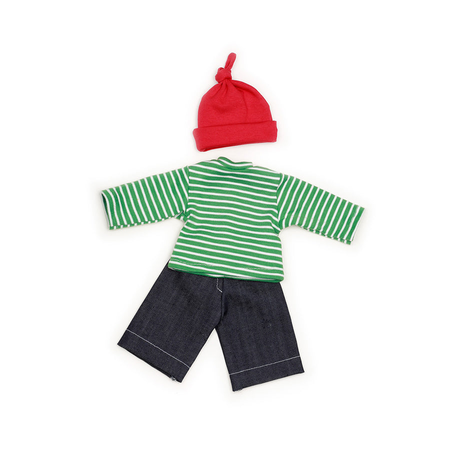 Nanchen Boys Dungaree Outfit - Organic Doll Clothing | Oompa Toys