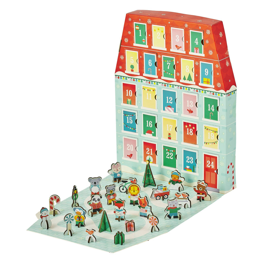 Petit Collage Christmas Pop-Out Advent Calendar - Open -  Oompa Toys