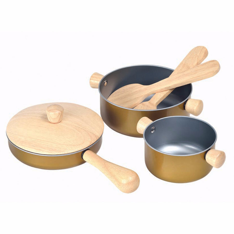 Plan Toys Cooking Utensils 3413 - Kids Play Kitchen Accessories