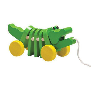 Plan Toys Dancing Alligator Wooden Pull Along Toy | Oompa Toys