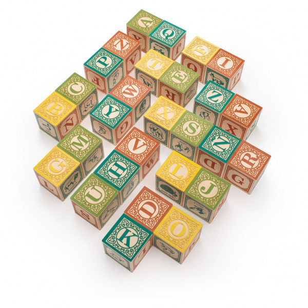 Spanish Wooden Alphabet Blocks
