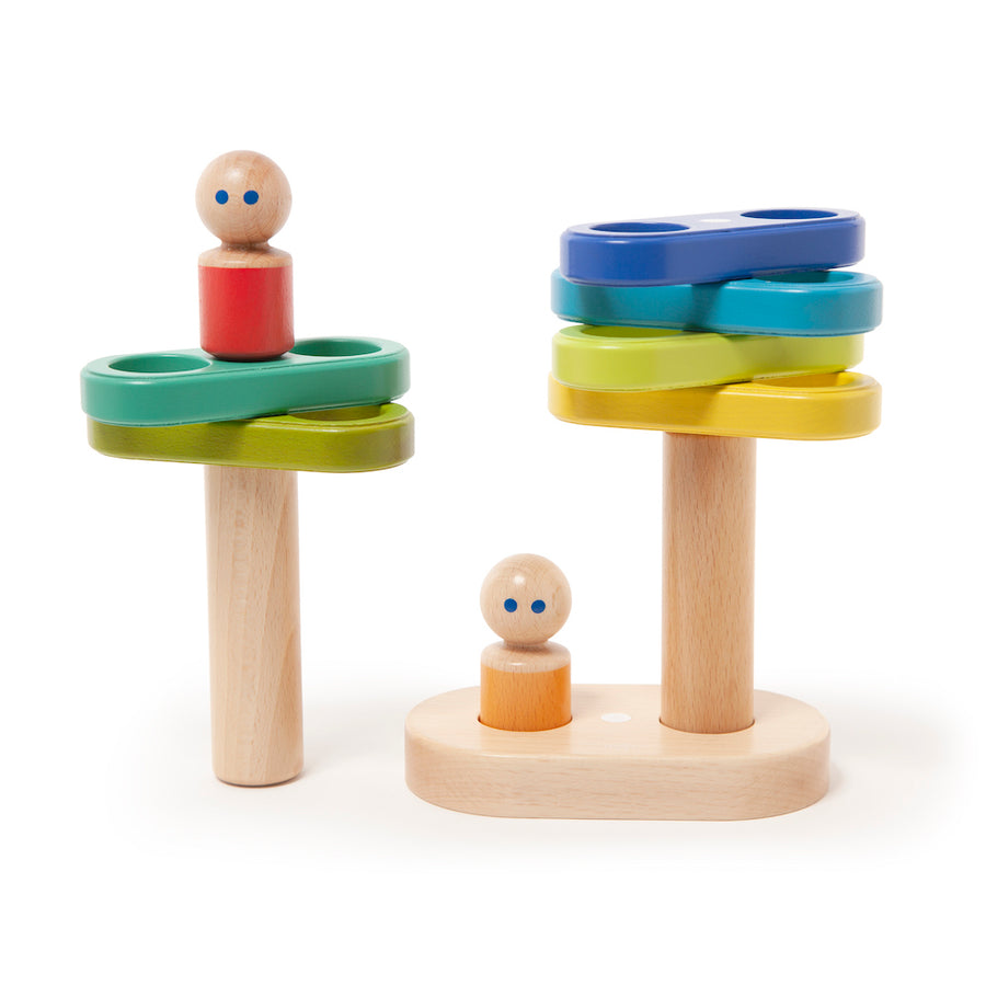 Magnetic Floating Stacker - Stacked - Tegu - Oompa Toys
