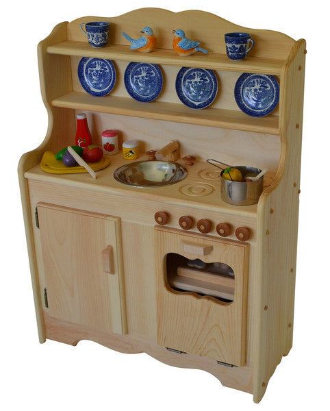 Sylvie's Deluxe Wooden Play Kitchen