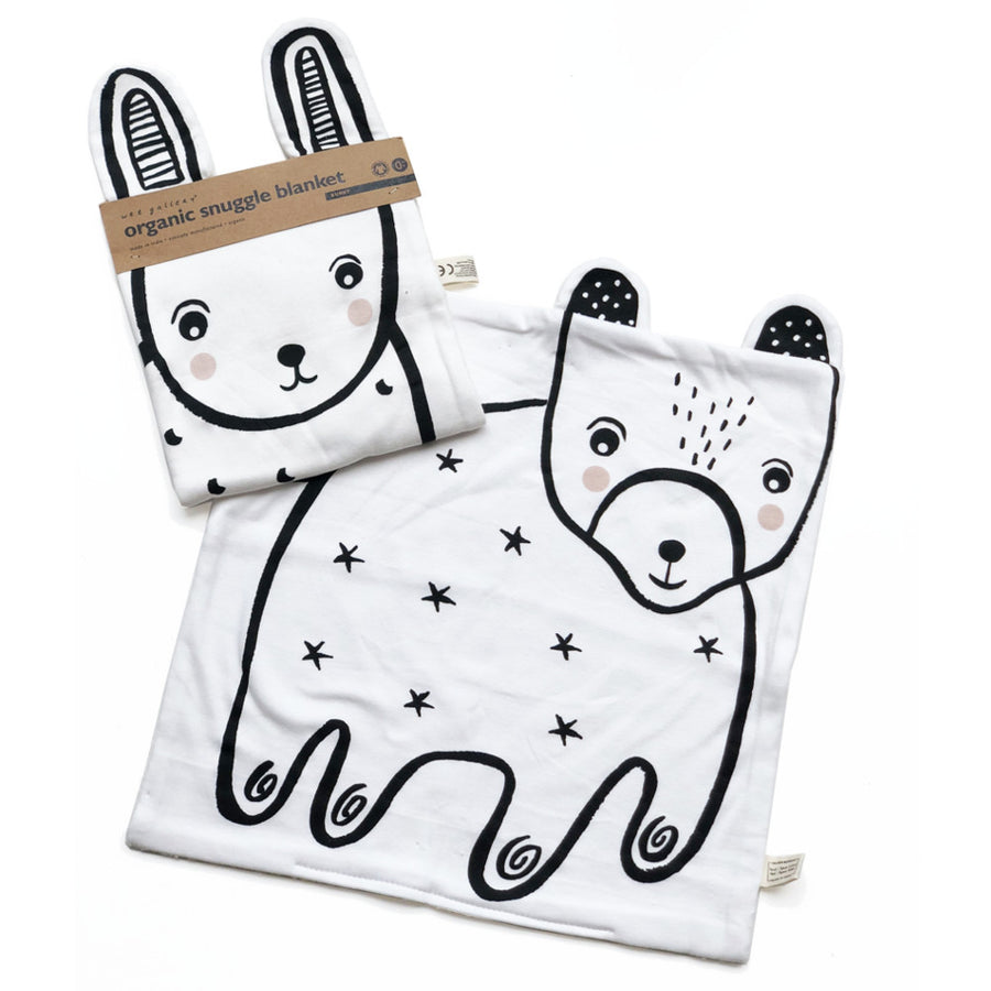 Wee Gallery - Bunny and Bear Organic Baby Blankets - Bella Luna Toys - Packaging