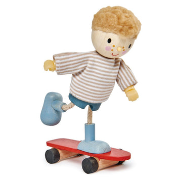 Tender Leaf Toys - Edward and his Skateboard - Oompa Toys