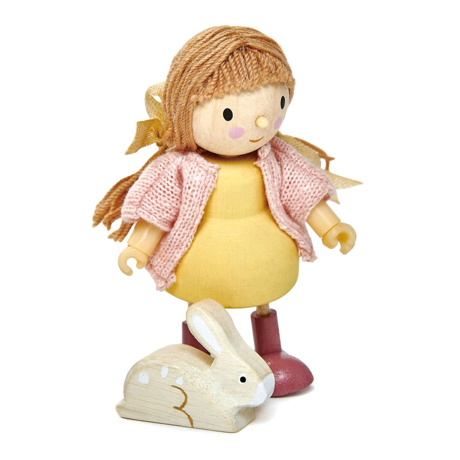 Amy and her Rabbit - Wooden Toy Figure - Oompa Toys