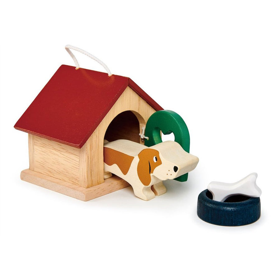 Dollhouse Dog Set - Dog House - Tender Leaf Toys - Oompa Toys