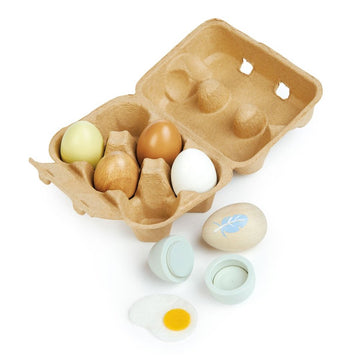 Wooden Eggs, Set of 6