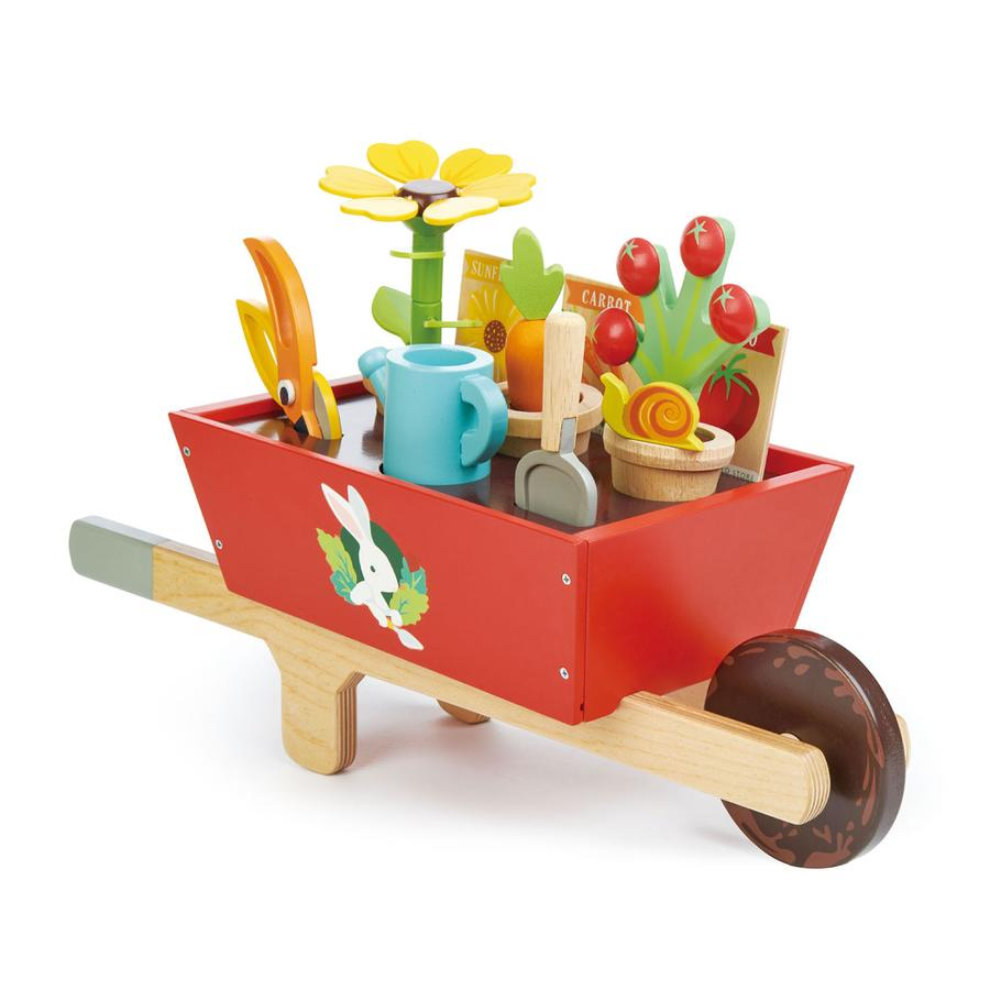 Tender Leaf Toys - Wooden Garden Wheelbarrow Set - Oompa Toys