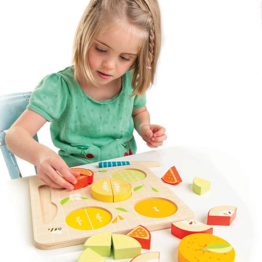 Citrus Fractions - Girl Playing - Tender Leaf Toys - Oompa Toys